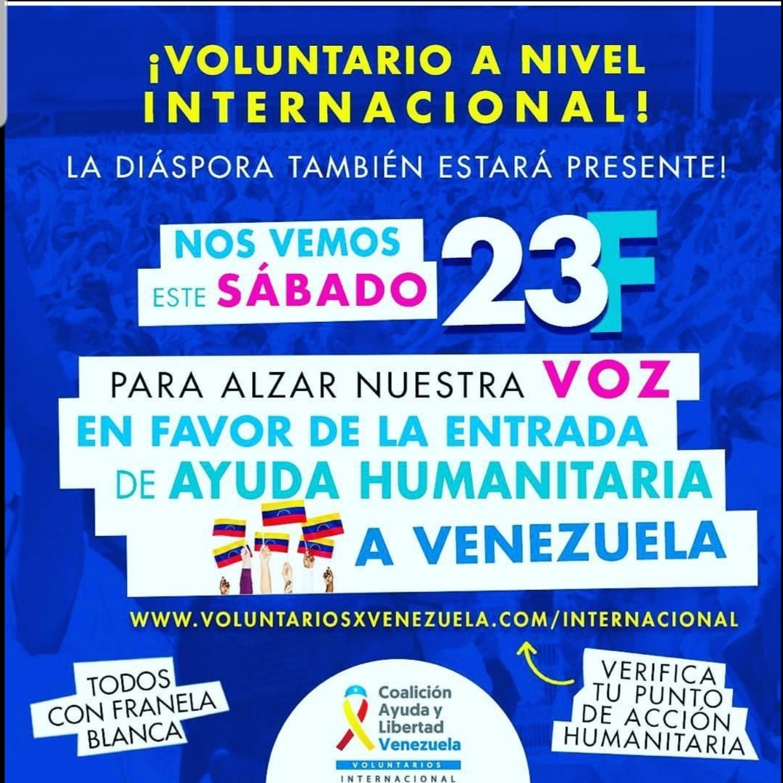 Manifestación mundial en apoyo a la Ayuda Humanitaria